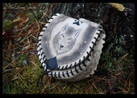 Wolf - leather belt bag by Laurefin-Estelinion