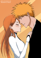 Orihime and Ichigo by Ashirou
