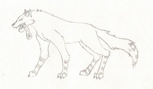 Mishik the wolf by Wielesse