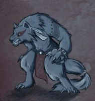 Tribal werewolf by Celiarts