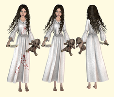 AliceNightgown and AliceNightgown Bloody, wip 1 by tombraider4ever