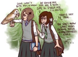 Like the two potterheads we are by JuliaLost