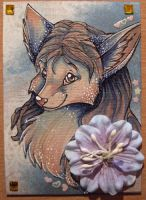 Snow animals ATC series Vixen by Suane