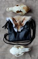 Red Fox and Black Leather by lupagreenwolf