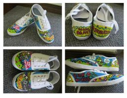 Nintendo shoes :commission by InnocentLittleZombie