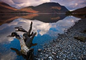Dawn over Crummock by crowthius