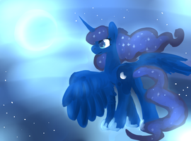 the moon by annaza0000