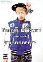 Dongho is a Unicorn by XannieCrab