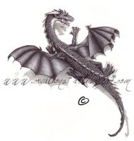 Biro Climing Dragon by ArtisAllan