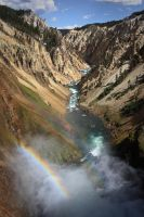 Yellowstone Grand Canyon by nalhcal