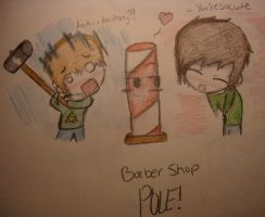 Barber shop pole! by huey4ever