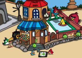 Rovio Town where Angry Birds and Green Pigs dwell by Pyro-Jock