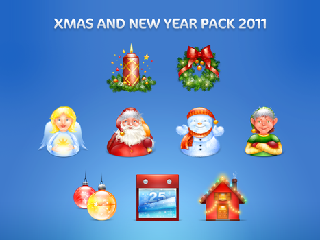 Xmas and New Year pack by blackblurrr