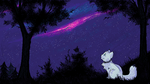 Night Sky // MS Paint by chocobeery