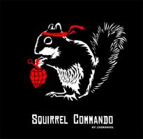 Squirrel Commando by zxerokool