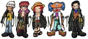 One Piece Bookmark Set 3 by kojika