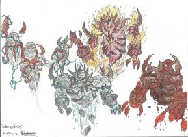 The Elementals (HandFinished) by PhalxScaxis