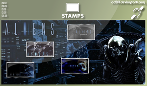 Stamps - 1986 - Aliens by od3f1