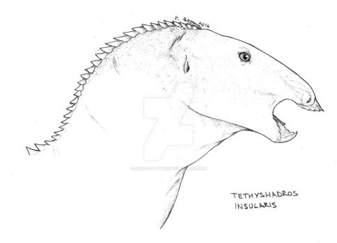 Tethyshadros insularis by Stuff-by-Tyto