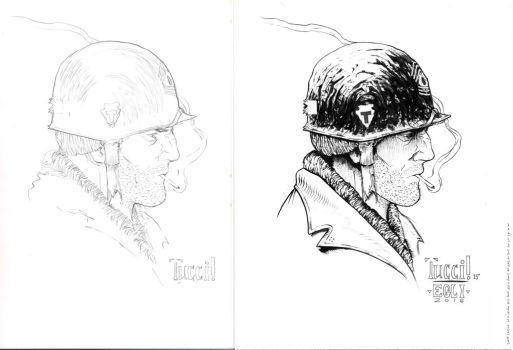SGT. Rock - Tucci - Egli - Ink Juxtapose by SurfTiki