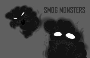Smog monsters- concept art by Kaotheroogoncreator