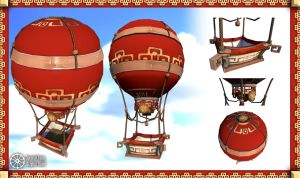 Totally-not-Pandarian Hot Air Balloon by tidalkraken