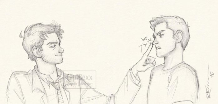 Lucifer!Cas and Dean by CaptBexx