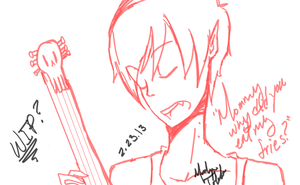 Marshall Lee  WIP by MashiroTisCuute