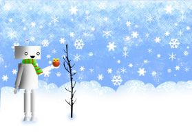 Robot In the Snow by jeibeas
