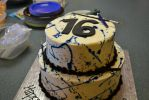 Sweet 16 Birthday Cake by lets-fight-darkness