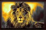 Sun Setting Lion by KarmeticPeace