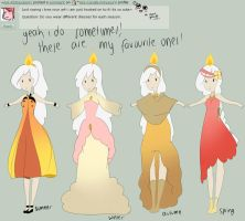 Q71 seasonal dresses by Ask-the-CandleTwins