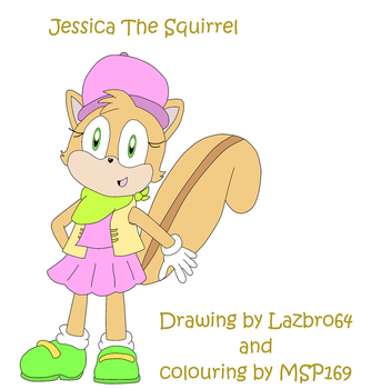 Jessica The Squirrel by Lazbro64 - Coloured by MSP169