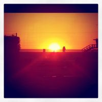 Sunset at Venice beach by Who-i-am-4lyf
