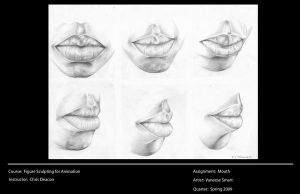 Study of Mouth by Vinnie14