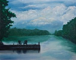 Cranberry Lake Painting by Underbase