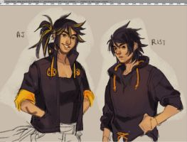 AJ and Rist by HJeojeo