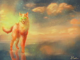 Walking in StarClan by skelletbreath