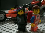 Emmet and Wyldstyle (The Lego Movie) by starwars98
