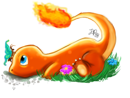 Unofficial Fan Art: Charmander from Pokemon by FortuRaider