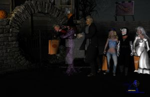 First Trick or Treat by Tramp-Graphics
