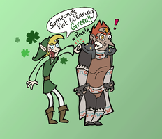 LOZ- St. Patty's Day by Kaaziel
