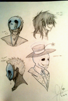 Jeff Splendy and Eyeless Jack by invaderwolfgirl