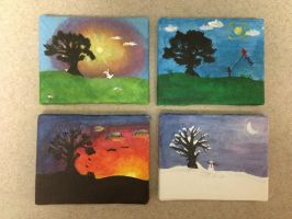 Four Seasons Cards by kris797