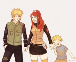 Namikaze Family by irenukia