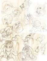 Sketch Dump- Heads Galore by Ifus