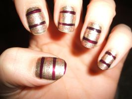 Maroon and Gold Stripes by lettym