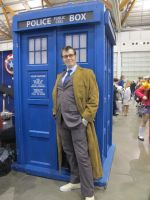The Doctor and his tardis by Darklight-phoenix