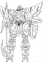 Armor of God 2.0- lineart by Sketcher6138