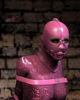 Pink Catsuit 004 by 3DErotic